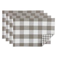 Design Imports 4-pack Reversible Gingham/Buffalo Check Placemats