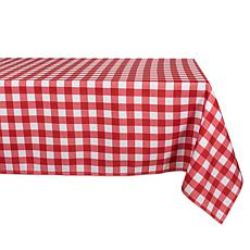 """Design Imports 60"""" x 84"""" Red Check Outdoor Tablecloth"""
