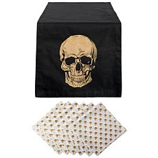 Design Imports 7-Piece Halloween Gold Skull Table Set