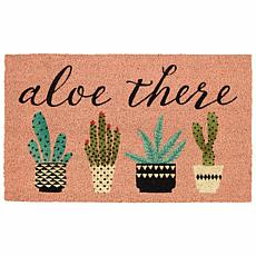"Design Imports ""Aloe There"" Doormat"