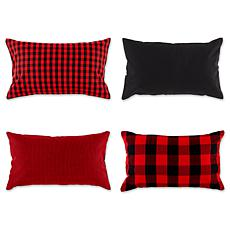 "Design Imports Assorted Pillow Covers 12"" x 20"" Set of 4"