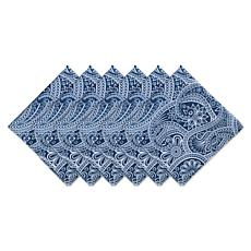 Design Imports Blue Paisley Print Outdoor Napkin Set of 6
