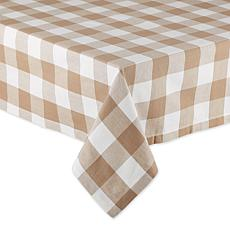 "Design Imports Buffalo Check Tablecloth - 52"" x 52"""
