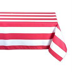 "Design Imports Cabana Stripe Outdoor Tablecloth - 60"" x 84"""