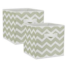 "Design Imports Chevron 11"" Storage Cube 2-pack"