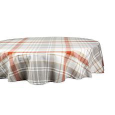 "Design Imports Cozy Picnic Plaid 70"" Round Tablecloth"