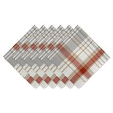 Design Imports Cozy Picnic Plaid Napkin Set of 6