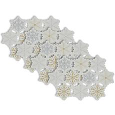 Design Imports Embroidered Snowflake Placemat Set of 4