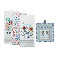 Design Imports Enjoy the Ride Kitchen 4-pack