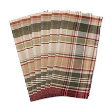 Design Imports Give Thanks Plaid Cloth Napkins Set of 6