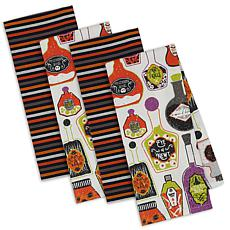 Design Imports Halloween Potions Kitchen Towel Set of 4