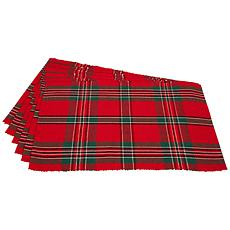 Design Imports Holiday Plaid Placemat Set of 6