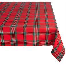Design Imports Holiday Plaid Tablecloth 60-inch by 84-inch