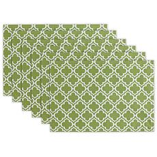 Design Imports Lattice Print Outdoor Placemat Set of 6