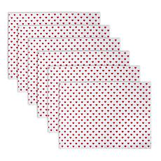 Design Imports Lil Hearts Ribbed Placemats Set of 6