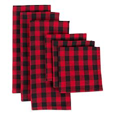 Design Imports Logger Check Kitchen Towel and Dishcloth Set of 6