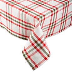 Design Imports Nutcracker Plaid Tablecloth - 52 x 52""