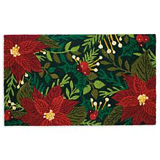 Design Imports Poinsettias Doormat
