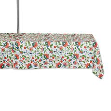 """Design Imports Print Outdoor Tablecloth with Zipper - 60"""" x 84"""""""