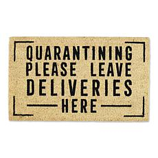 Design Imports Quarantining Please Leave Deliveries Here Doormat
