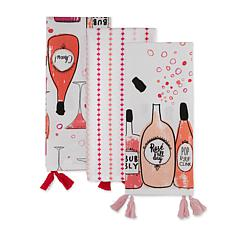 Design Imports Rosé All Day Kitchen Towel Set of 3