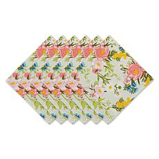 Design Imports Set of 6 Spring Bouquet Napkins