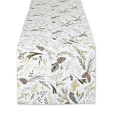 """Design Imports Sparkle Sprigs Table Runner - 14"""" x 108"""""""