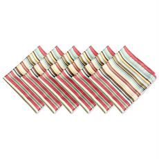Design Imports Summer Stripe Outdoor Napkin Set of 6