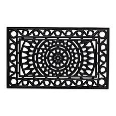 Design Imports Sun Scroll Rubber Doormat