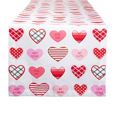 "Design Imports Sweet Hearts Print Table Runner - 14"" x 72"""