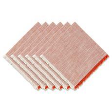 Design Imports Tonal Fringe Napkin Set of 6
