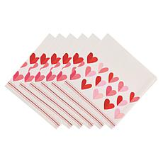 "Design Imports ""Two Hearts"" Napkins 6-Pack"