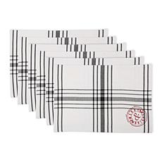 Design Imports Vintage Stamp Placemats Set of 6