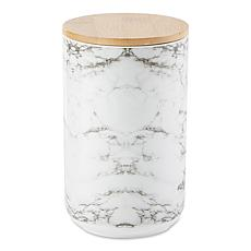 Design Imports White Marble Ceramic Treat Canister