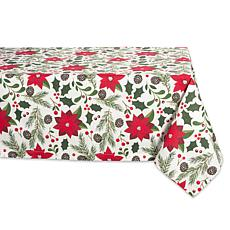 Design Imports Woodland Christmas Print Tablecloth 60-inch x 84-inch