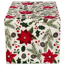 Design Imports Woodland Christmas Printed Table Runner 14-in x 72-in