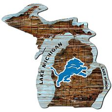 Detroit Lions Distressed State with Logo