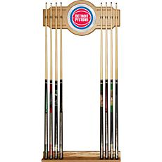 Detroit Pistons NBA Billiard Cue Rack with Mirror