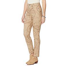 DG2 by Diane Gilman Classic Stretch Chain-Print Skinny Jean
