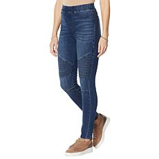 DG2 by Diane Gilman Classic Stretch Denim Pull On Moto Jegging