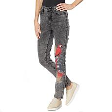 DG2 by Diane Gilman Classic Stretch Embellished Skinny Jean
