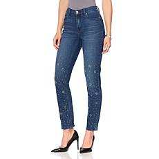 DG2 by Diane Gilman Classic Stretch Embellished Skinny