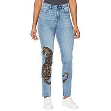 DG2 by Diane Gilman Classic Stretch Leopard Skinny Jean