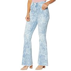 DG2 by Diane Gilman Classic Stretch Printed Flare Jean