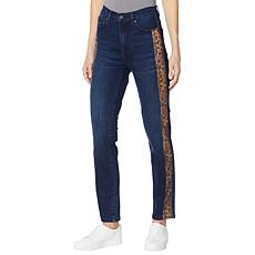 DG2 by Diane Gilman Classic Stretch Snake-Print Skinny Jean