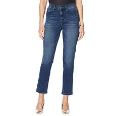 DG2 by Diane Gilman Classic Stretch Straight Ankle Jean - Basic