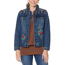 DG2 by Diane Gilman Cross Stitch Classic Novelty Denim Jacket
