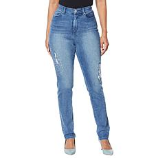 DG2 by Diane Gilman Destructed Multi-Stone Skinny Jean