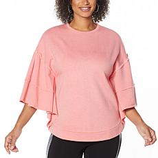 "DG2 by Diane Gilman ""DG Downtime"" French Terry Ruffled Sweatshirt"