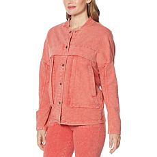 "DG2 by Diane Gilman ""DG Downtime"" Rib Collar Oversized Jacket"